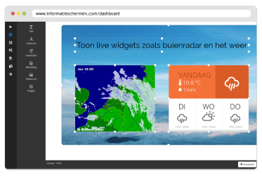drag and drop editor voorbeeld met live widgets